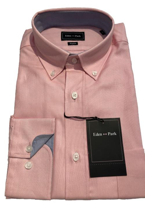 Long Sleeve Classic Oxford Shirt (Pink)