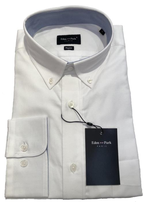 Long Sleeve Classic Oxford Shirt (White)