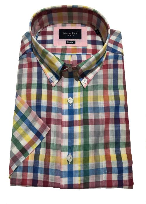 Bright Multi Check Short Sleeve Shirt