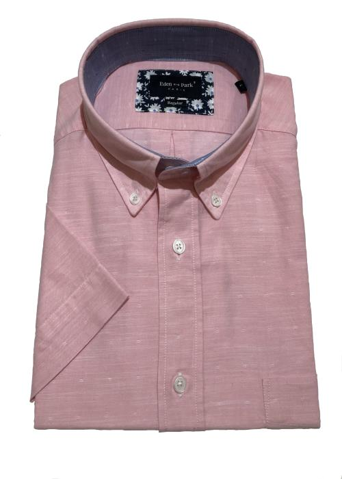 Neat Self Pattern Shirt (Pink)