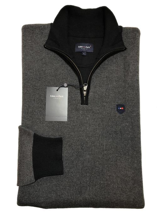1/4 Zip Sweater (Grey/Black)