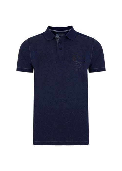 KAM Contrast Polo Shirt (Denim/Navy)