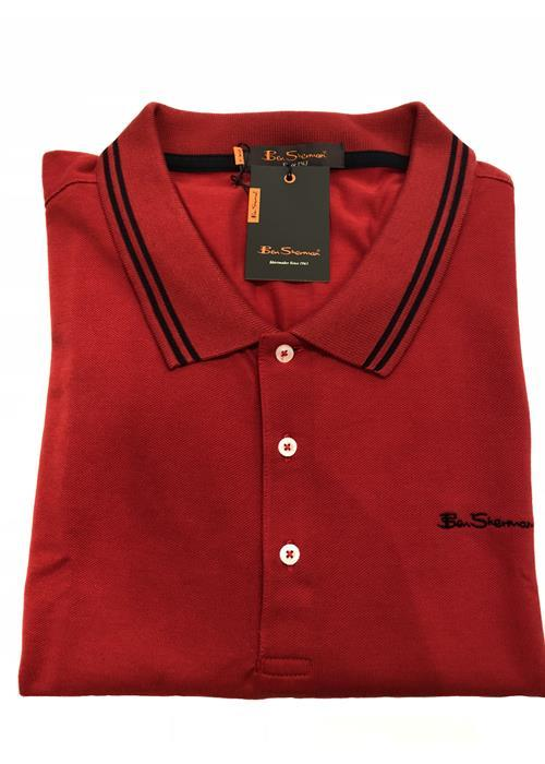 Ben Sherman TIPPED POLO SHIRT (RED/NAVY)