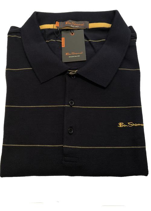 Ben Sherman STRIPED POLO SHIRT (NAVY/YELLOW)