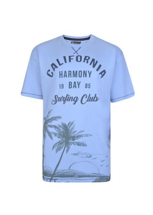 KAM CALIFORNIA SURF TEE (SKY)