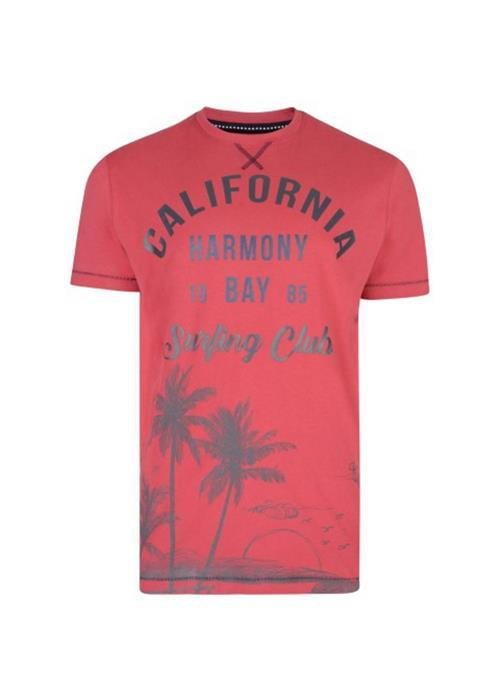 KAM CALIFORNIA SURF TEE (RED)