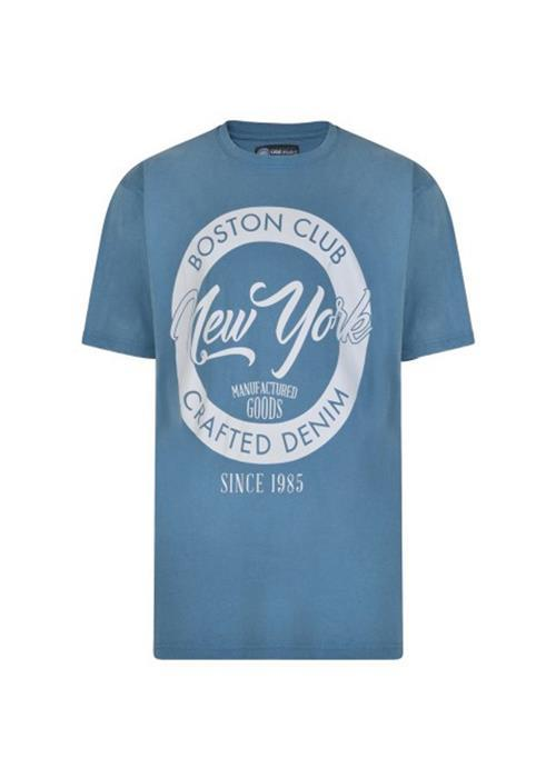 KAM BOSTON CLUB TEE (DENIM)