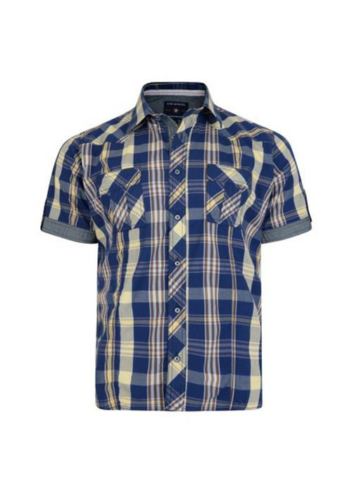 KAM BOLD CHECK SHIRT (SAFARI)