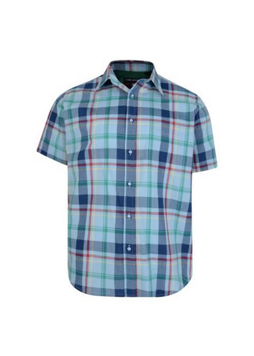 KAM MULTI CHECK SHORT SLEEVE SHIRT