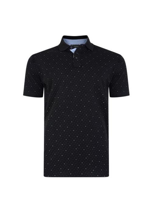 KAM DOBBY POLO SHIRT (BLACK)