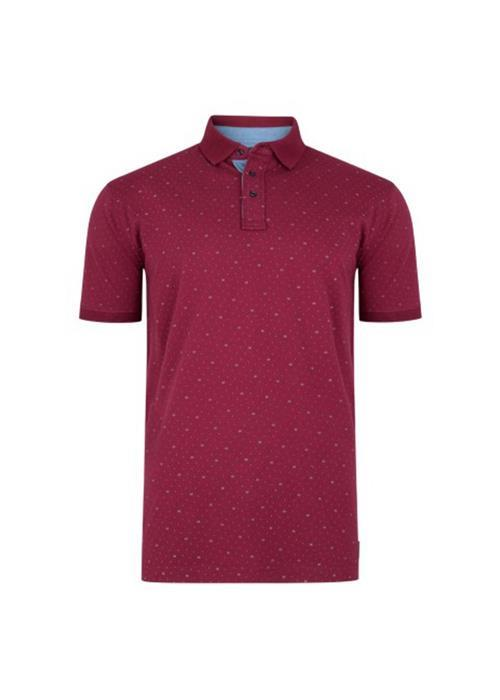 KAM DOBBY POLO SHIRT (WINE)