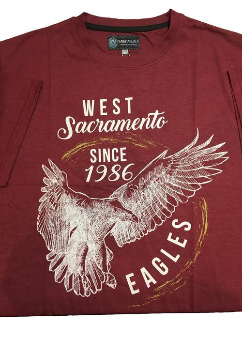 KAM Eagle Print Tee (Wine)