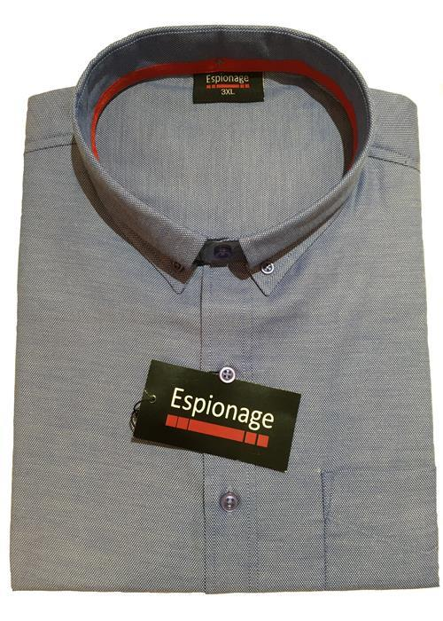 Espionage Short Sleeve Oxford Shirt (Blue)