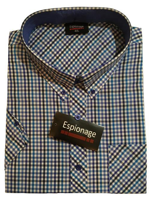 Espionage Short Sleeve Neat Check (Blue)