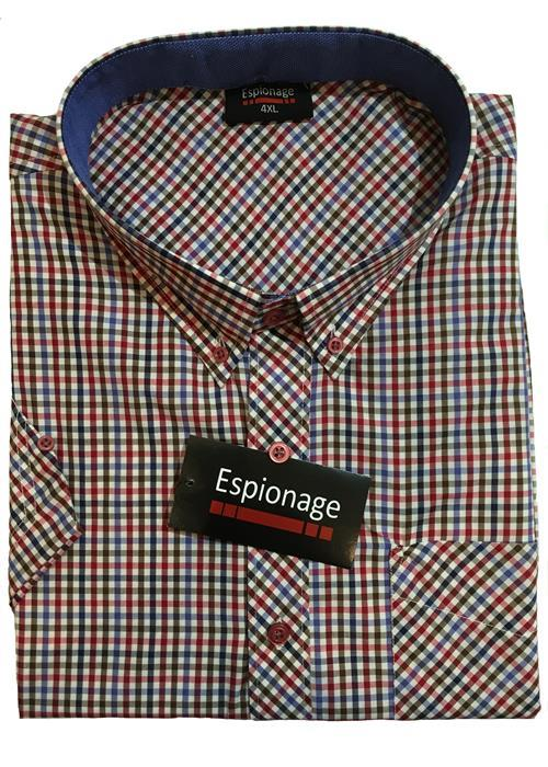 Espionage Short Sleeve Neat Check (Red)