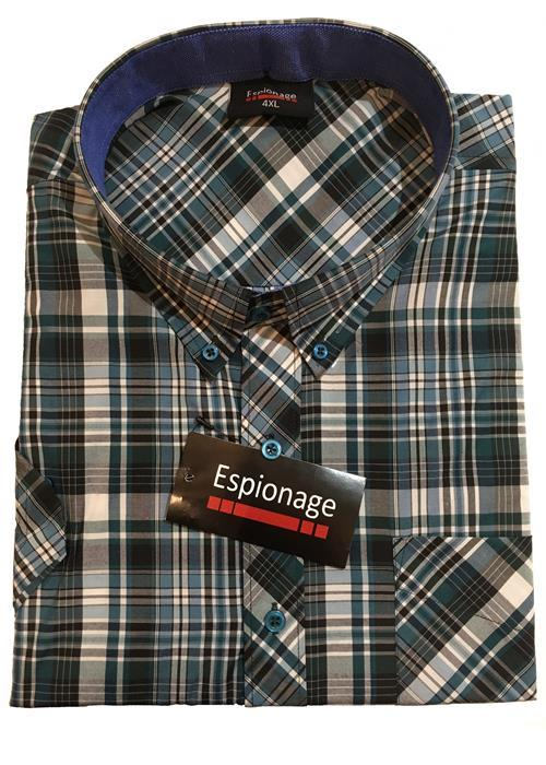 Espionage Short Sleeve Multi Check (Petrol)