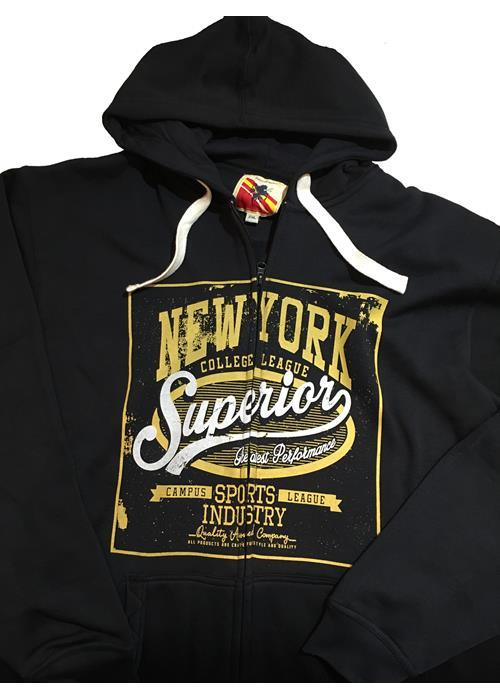 Espionage Zip Through Hoodie (Black)