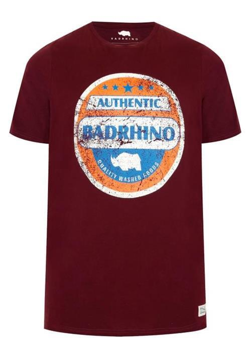 Bad Rhino Authentic Tee (Burgundy)