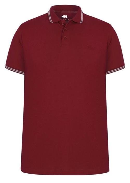 Bad Rhino Tipped Polo Shirt (Wine)