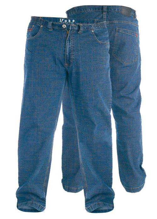 Duke Comfort Fit Stretch Jeans With Elasticated Waist (Bailey)