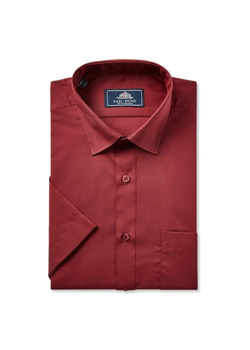 Rael Brook Short Sleeve Shirt (Wine)
