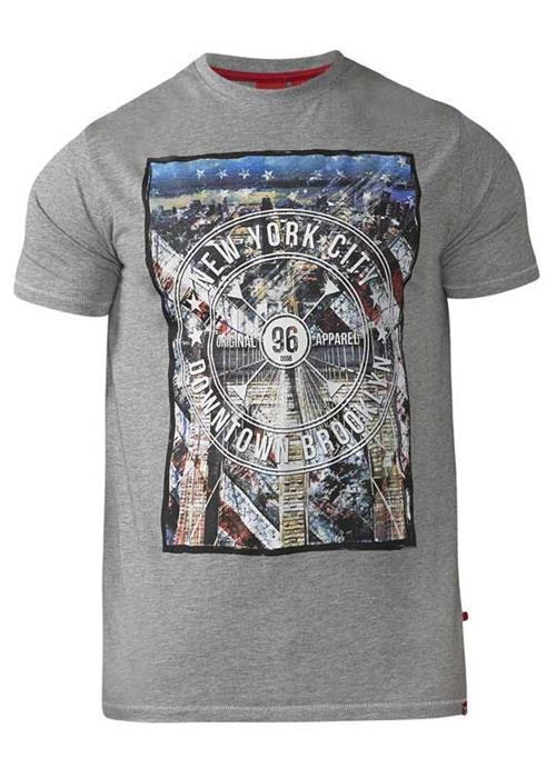 Duke Audley T-Shirt (Grey Marl)