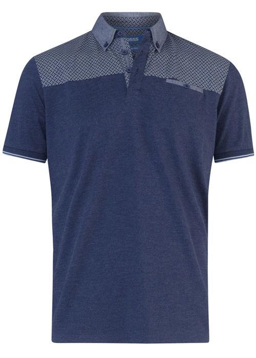 Duke Brent Short Sleeve Polo Shirt (Denim Marl)