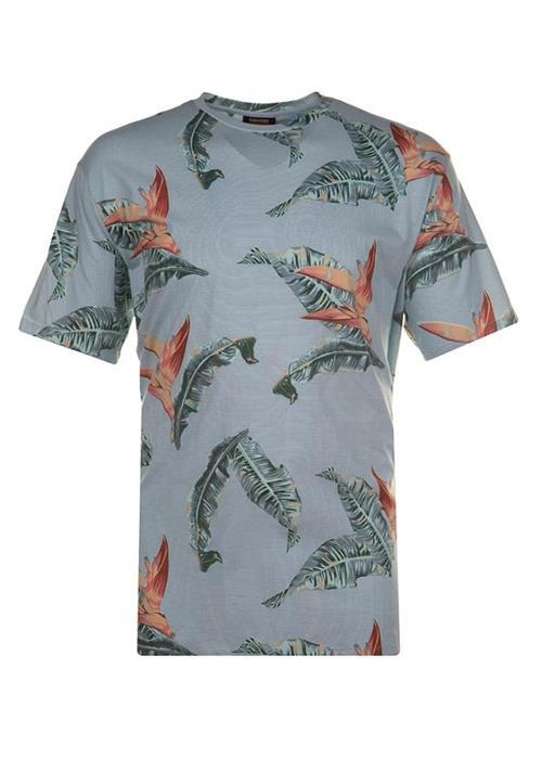 Espionage Bird of Paradise Printed Crew Neck T-Shirt