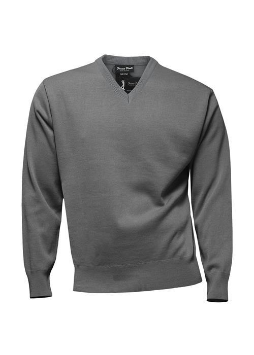 Franco Ponti Knitwear V-Neck Sweater (Grey)