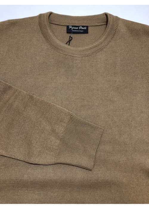 Franco Ponti Knitwear Crew Neck Sweater (Camel)