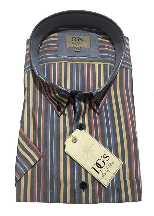Douglas Short Sleeve Multi Stripe