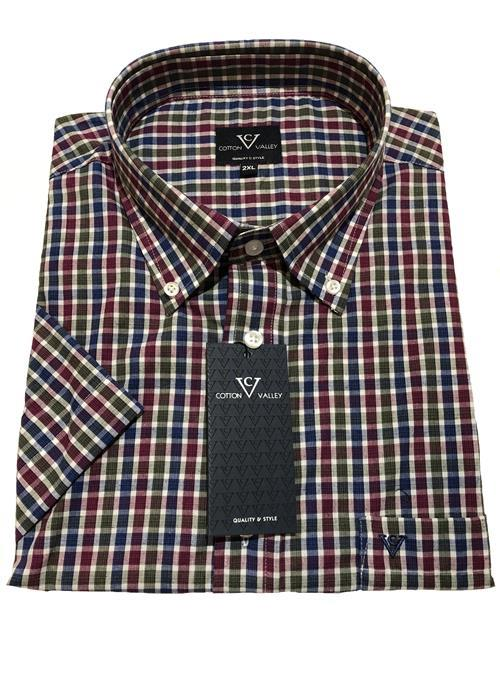 Cotton Valley / Metaphor Neat Multi Check Short Sleeve Shirt