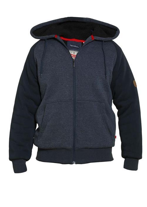 Duke Armstrong Fleece Lined Hoodie (Denim Marl)