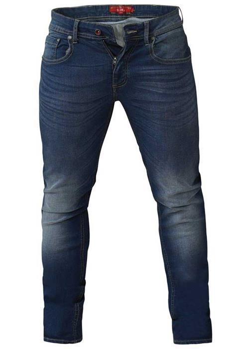 Duke Ambrose Tapered Leg Stretch Jeans (Vintage Blue)