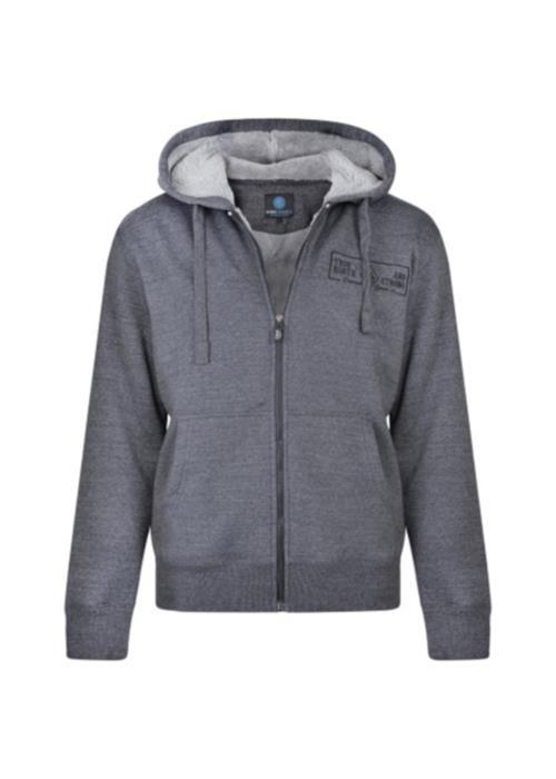 KAM Fleece Lined Hoodie (Charcoal)