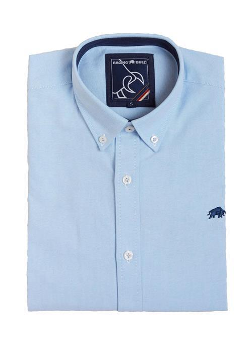 Raging Bull Long Sleeve Oxford Cloth Shirt (Sky Blue)
