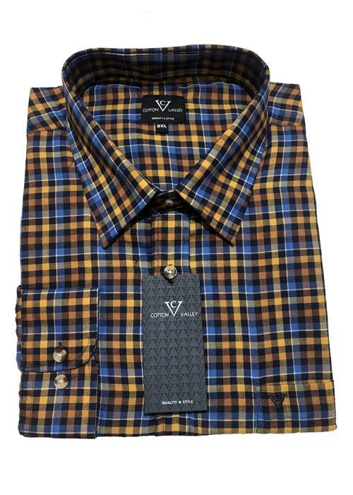 Cotton Valley / Metaphor Bright Multi Check Long Sleeve Shirt