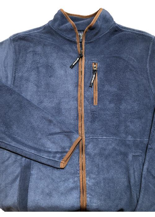 Cotton Valley / Metaphor Plain Trimmed Fleece Jacket (Blue)