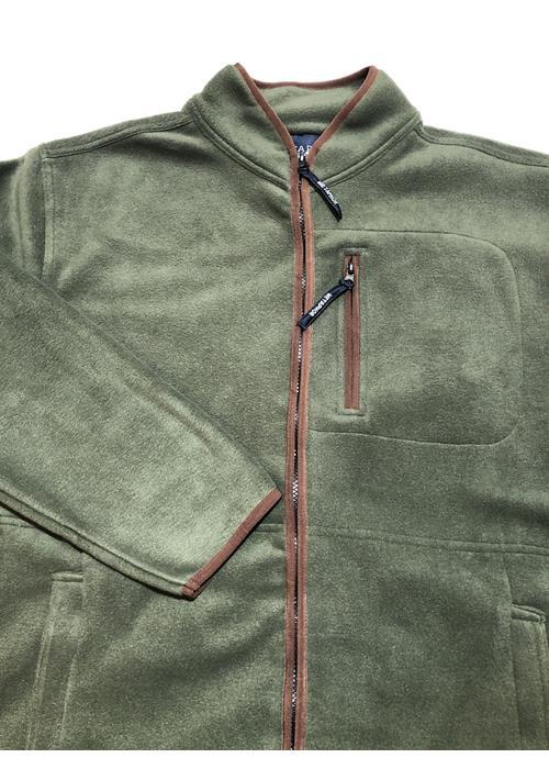 Cotton Valley / Metaphor Plain Trimmed Fleece Jacket (Moss Green)