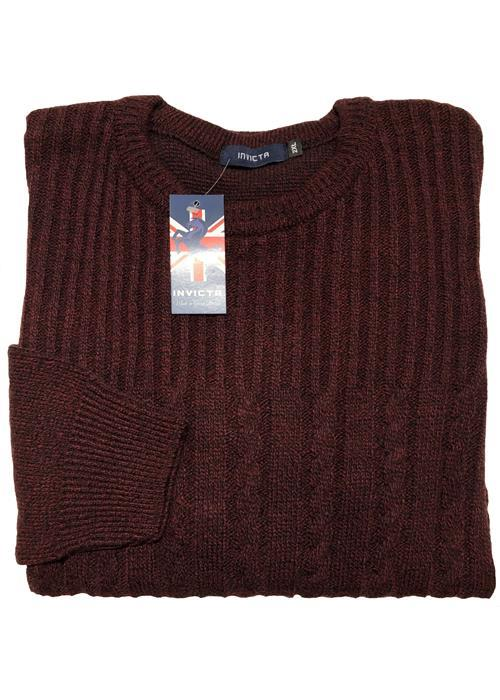 Cotton Valley / Metaphor Cable Knit Crew Neck Sweater (Burgundy)