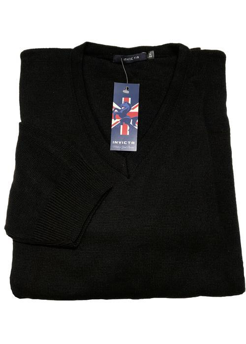 Cotton Valley / Metaphor Plain V-Neck Sweater (Black)