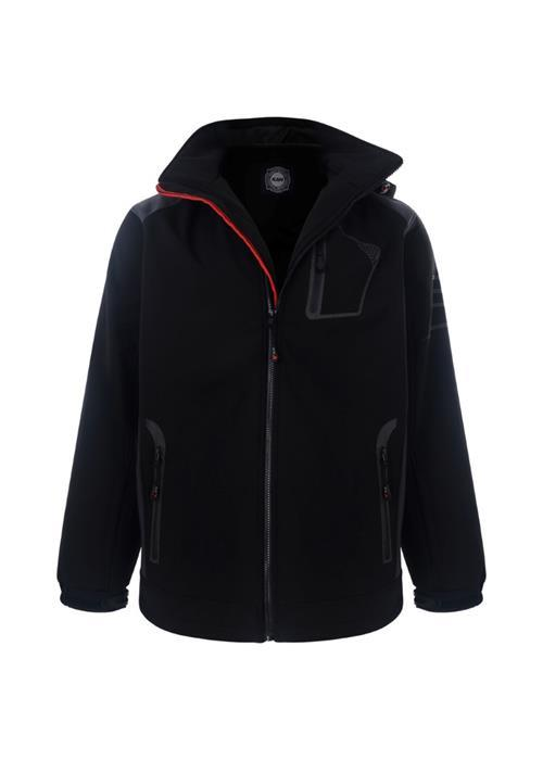 KAM Softshell Waterproof Coat (Black)