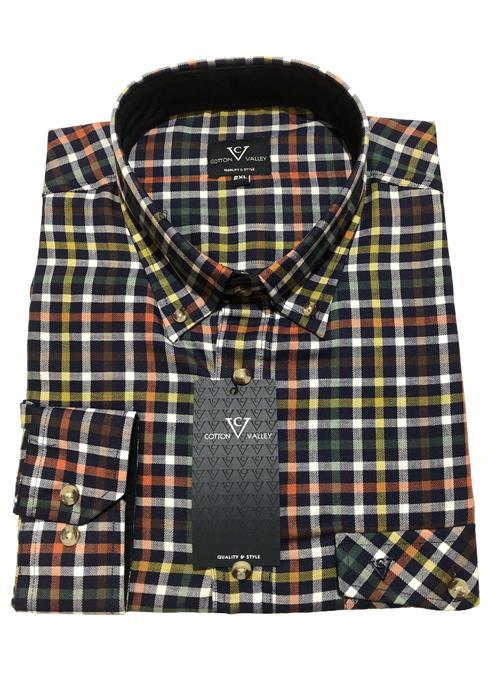 Cotton Valley / Metaphor Bright Long Sleeve Check