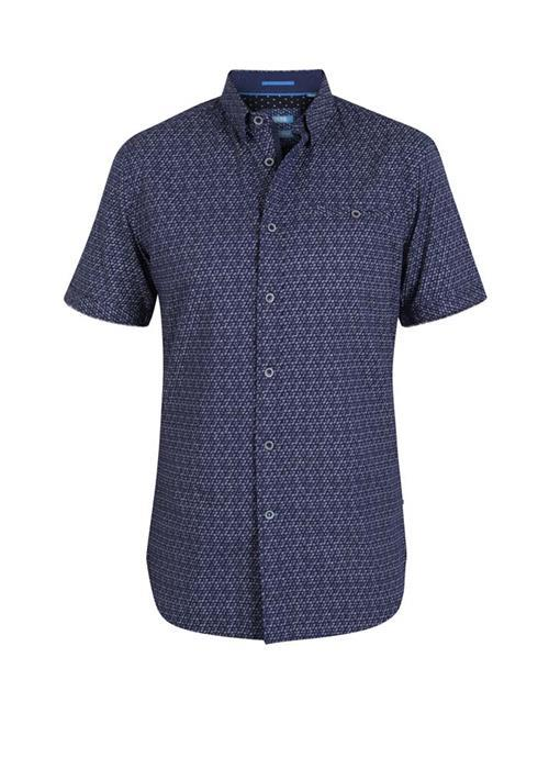 Duke Barlow Short Sleeve Shirt (Navy)