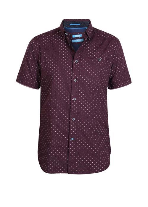 Duke Decker Short Sleeve Shirt (Wine)