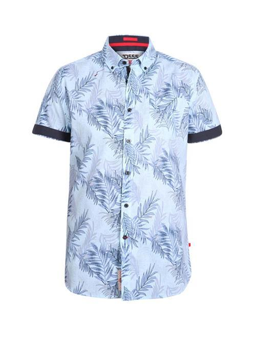 Duke Santana Short Sleeve Printed Shirt (Sky Blue)