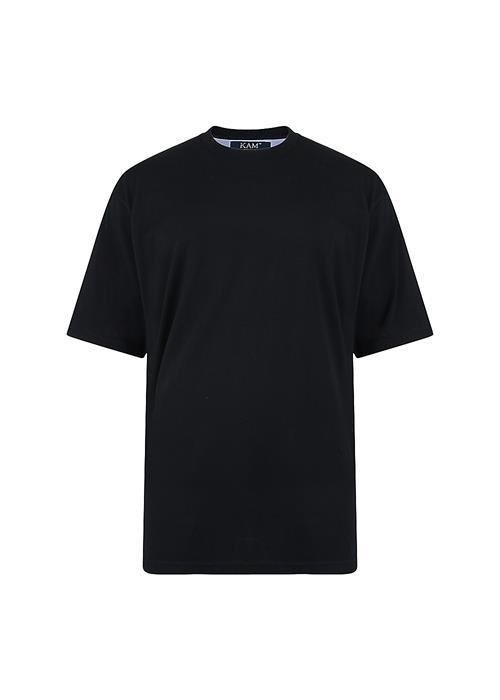 KAM Plain Crew Neck T-Shirt (Black)