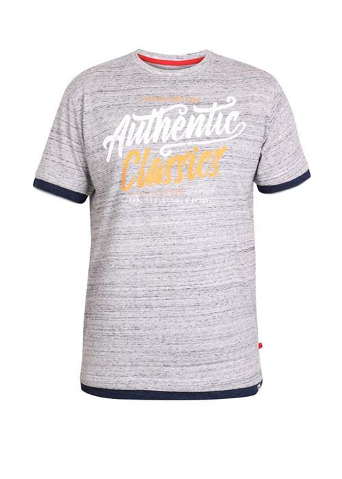Duke Finn T-Shirt (Grey Marl)