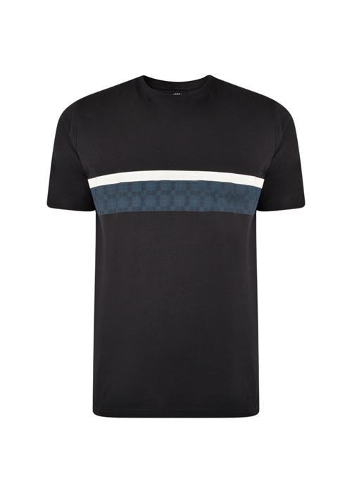 KAM Chest Stripe T-Shirt (Navy)