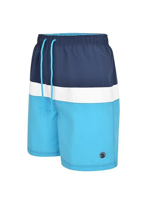 Espionage Panelled Water / Swim Shorts (Turquoise)